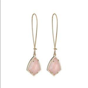 Kendra Scott Carinne Drop Earrings (rose quartz)